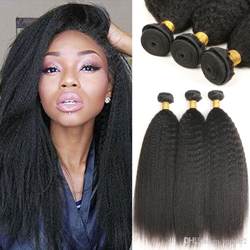 Indian Human Hair 3 Bundles Kinky Straight Unprocessed Virgin Hair