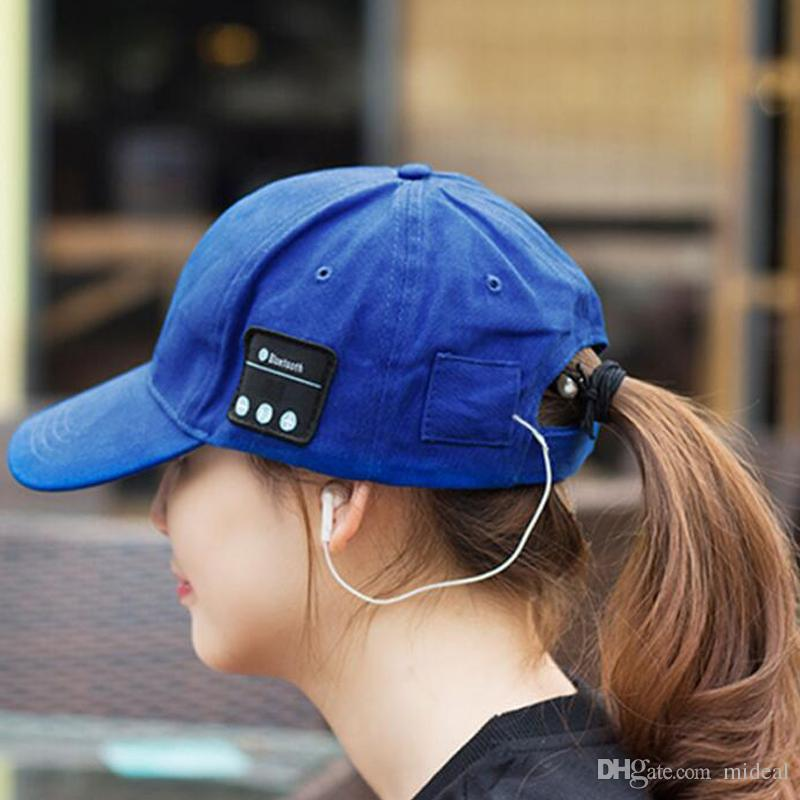 7898512a362 Hot Bluetooth Music Earphone Hat Outdoor Baseball Earphones Cap ...