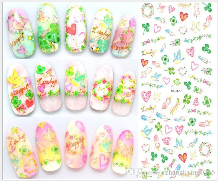 Korean Japan Kawaii Style Cartoon Nail Patch Art Stickers Decals