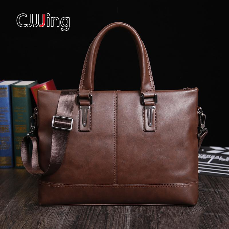 Men Business Handbags Messenger Case Shoulder Crossbody Bag Mens ... f89e322acee37