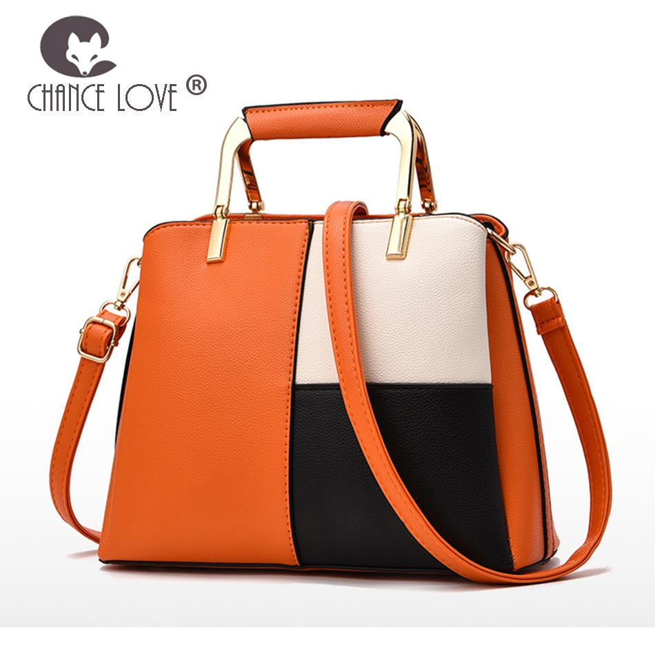 80592a3f90 Chance Love Ladies Bag 2018 New Fashion Color Matching Handbags Foreign  Trade Casual Tote Big Bag Wild Shoulder Messenger Ladies Purse Designer  Purses From ...
