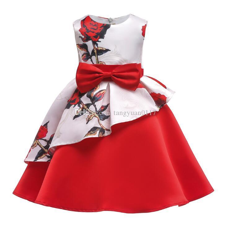 46f63860c35 Acheter Filles Élégantes Princesse Robe Enfants Robes De Soirée Pour Les  Filles Robe De Mariée Enfants Robe De Noël Pour Les Filles Costume 8 10 Ans  De ...