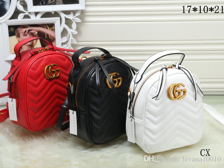 6fb80d5906 Marmont Backpack Women Famous Brands Backpacks Leisure School Bag Fashion  Leather Quilted Mochila Luxury Designer Women Bags Italy Bag Backpack  Travel Bags ...