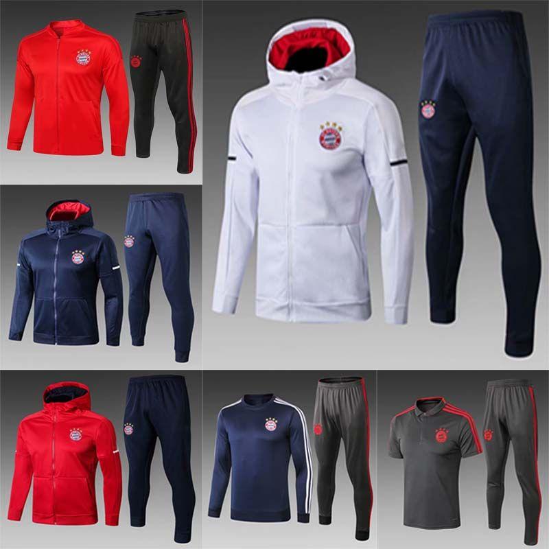 6c7bad8f049 Compre 2018 2019 Bayern De Munique Jaqueta De Futebol Azul Royal Uniforme  1819 Conjuntos De Futebol De Futebol Jaqueta De TailândiaTerno De Treino De  ...