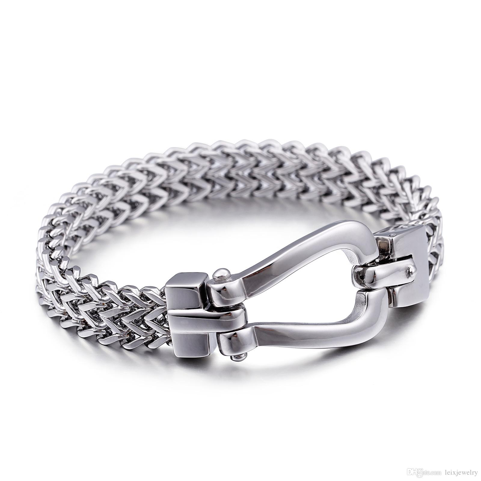 Fashion Mens Jewelry Titanium Stainless Steel Chain Bracelet Stylish