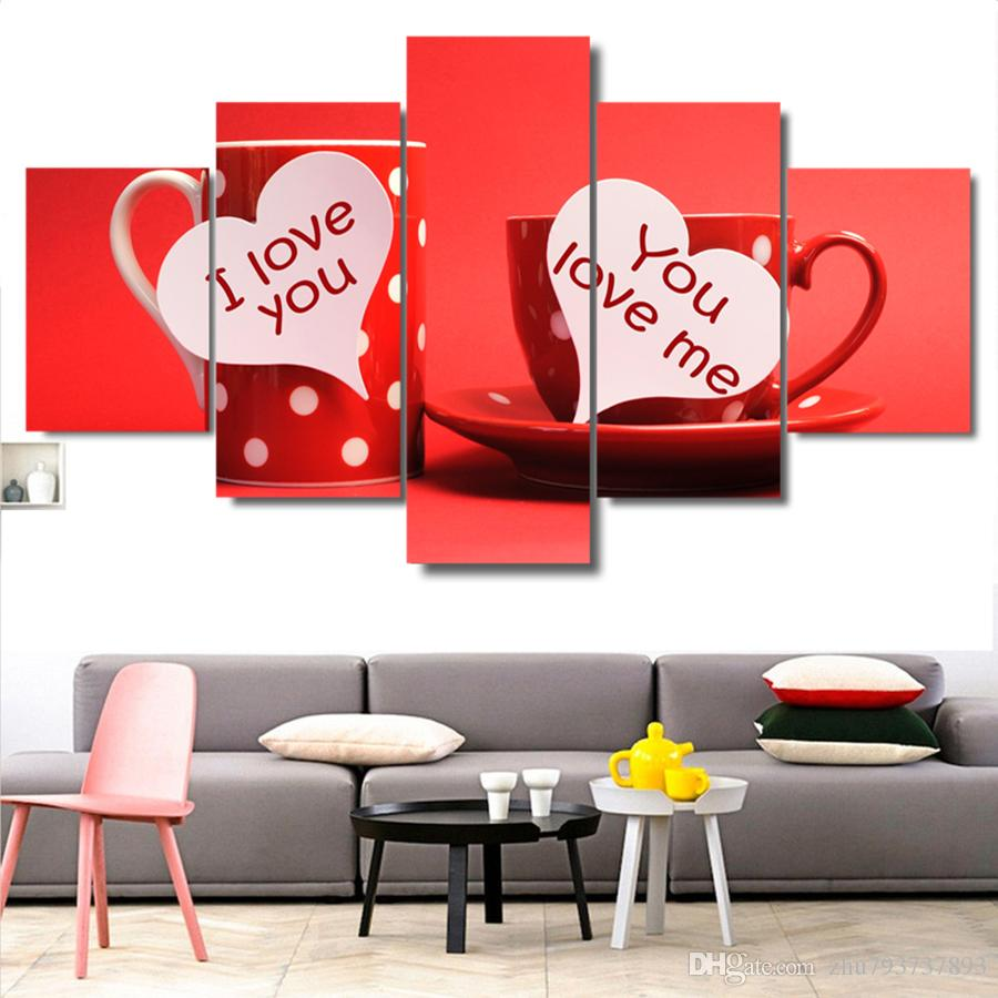 f89e572b1b81 2019 Canvas HD Prints Pictures Kitchen Good Morning Love You ...