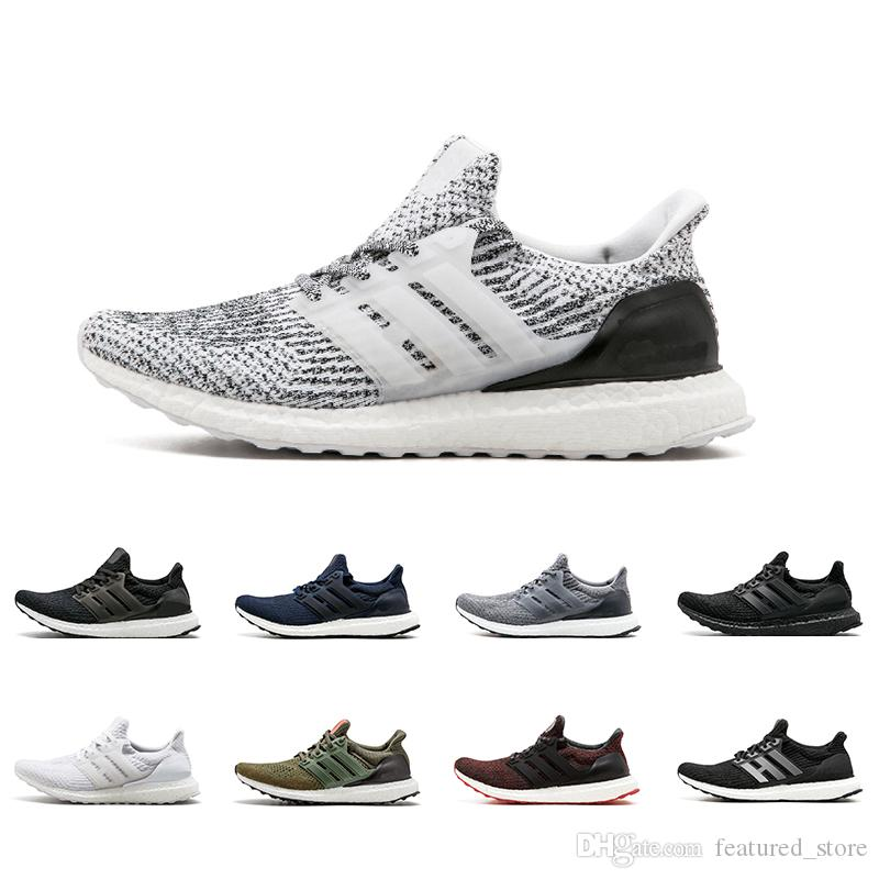 df974e03633 New Arrival Ultra Boost 3.0 4.0 Running Shoes Men Women Triple Black White  CNY Oreo Blue 3.0 Primeknit Sports Sneakers Tennis Shoes Athletic Shoes  From ...