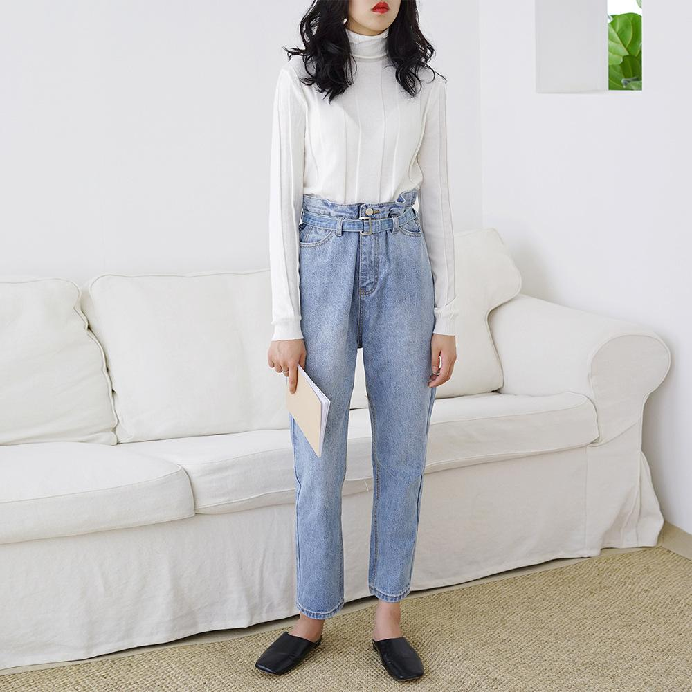 Boyfriend Jeans Mit Vintage Capri Mom Hoher Denim Großhandel Damen uPkXOiZT