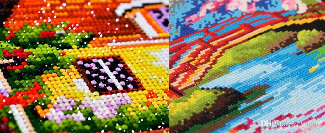 DIY Diamant Stickerei 5D Diamant Malerei Diamanten Mosaik Traumhaus voller Strass Kreuzstich Handarbeit Weihnachten Dekor Handwerk Werkzeuge