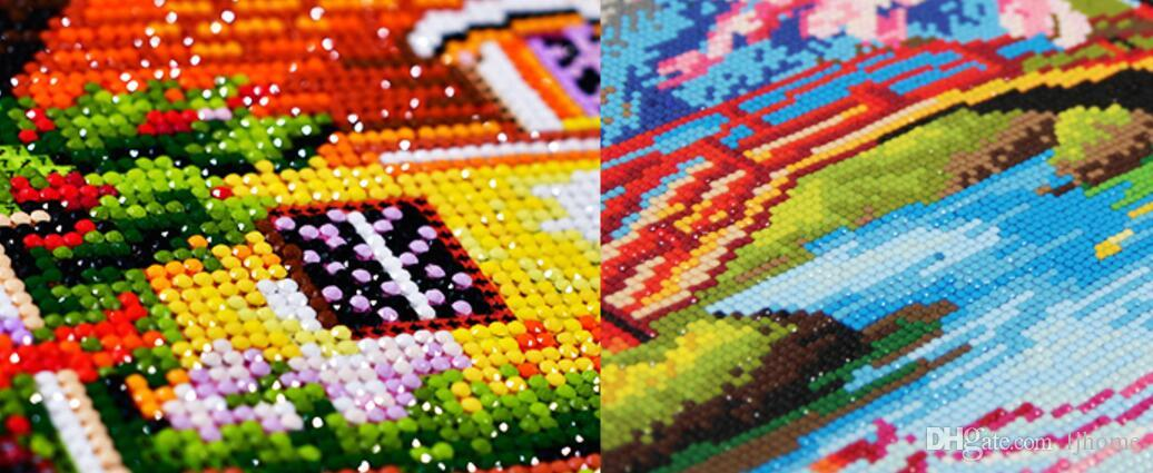 Fai da te Diamante Ricamo Diamante 5D Diamante dipinto mosaico Casa dei sogni Pieno di strass punto croce ricamo Decorazioni di Natale Strumenti del mestiere