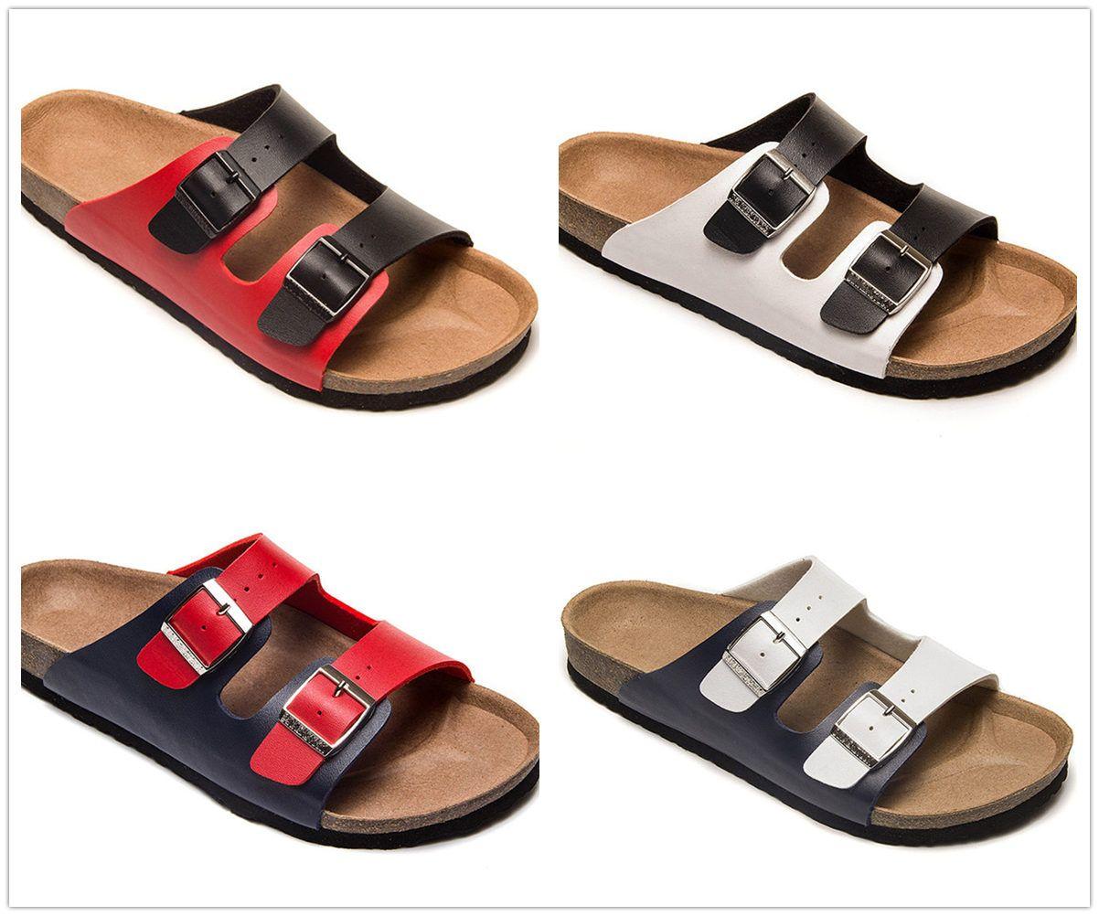 brand new b22e1 7cd66 Verschiedene bunte berühmte marke arizona männer cork flache ferse sandalen  frauen mode sommer strände casual schuhe mit schnalle