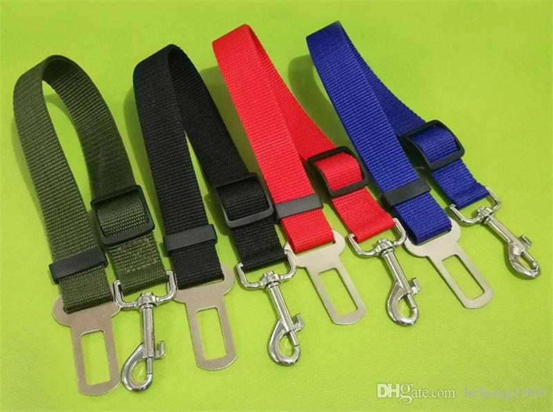 Dog Life Belts Pet Supplies Safety Belt Traction Rope Multiple Colors Vehicle Car Extensible High Quality 1 8zm V