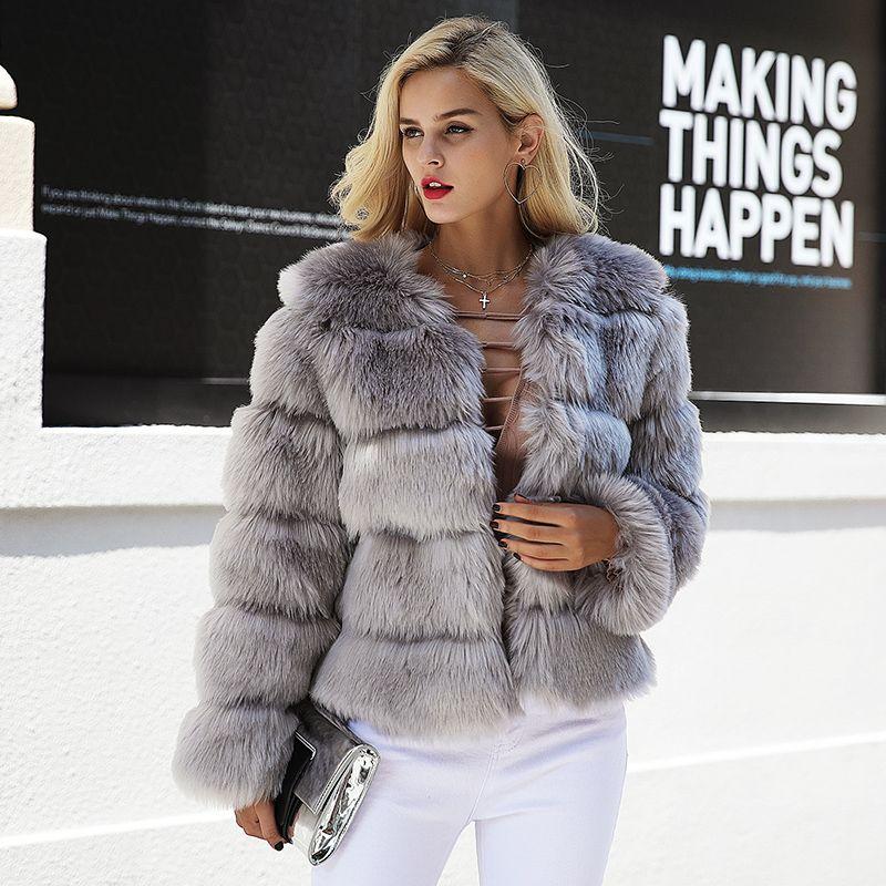 f48d49f895d 2019 Women Vintage Fluffy Faux Fur Coat Women Short Furry Fake Fur Winter  Outerwear Pink Coat 2018 Autumn Casual Party Overcoat Xxxl From Jingju, ...