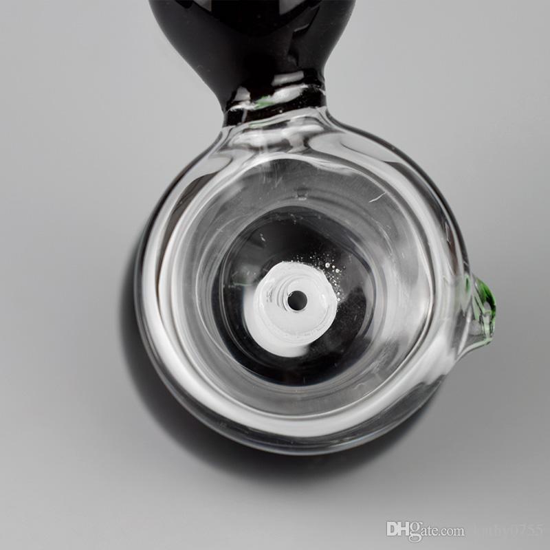 Прямой тип черный стекло водопровод стекло барботер курительная трубка стекло бонг чистое тело буровые вышки 8 дюймов высота