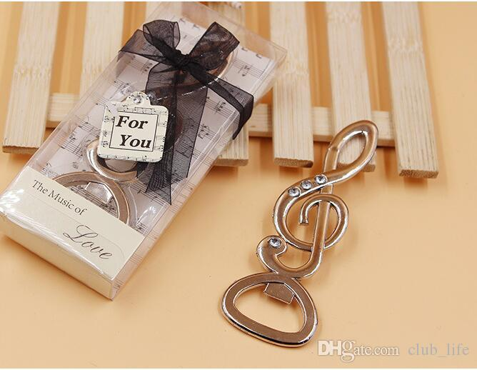 the music of love symphony musical note diamond bottle opener wedding favors bridal shower party gifts cheap wedding favours cheap wedding guest gifts from