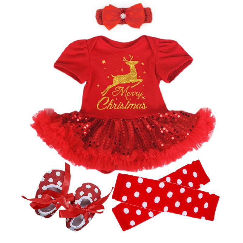 074a12369717 2019 Baby Girl Clothes Newborn Baby Romper My First Christmas Short Sleeve  Lace Romper Dress Bebes Xmas Party Cosplay Gifts 3 6 12 24M From  A865043729, ...