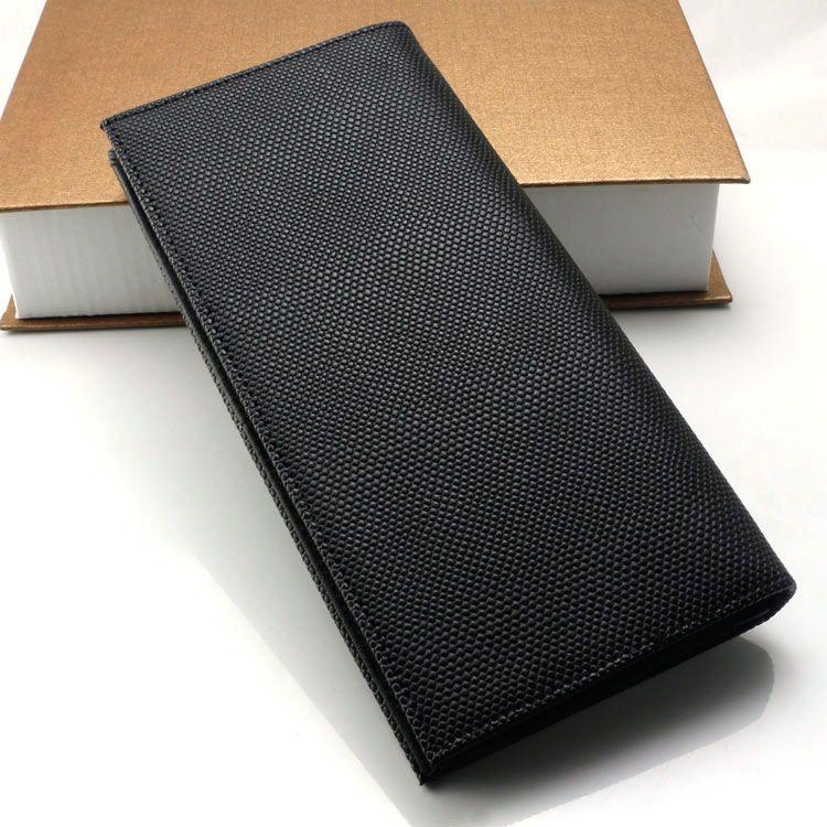 Moda de lujo de los hombres MB carteras de cuero genuino tarjeta de visita caso negro largo titular de la tarjeta Cash clip wallet