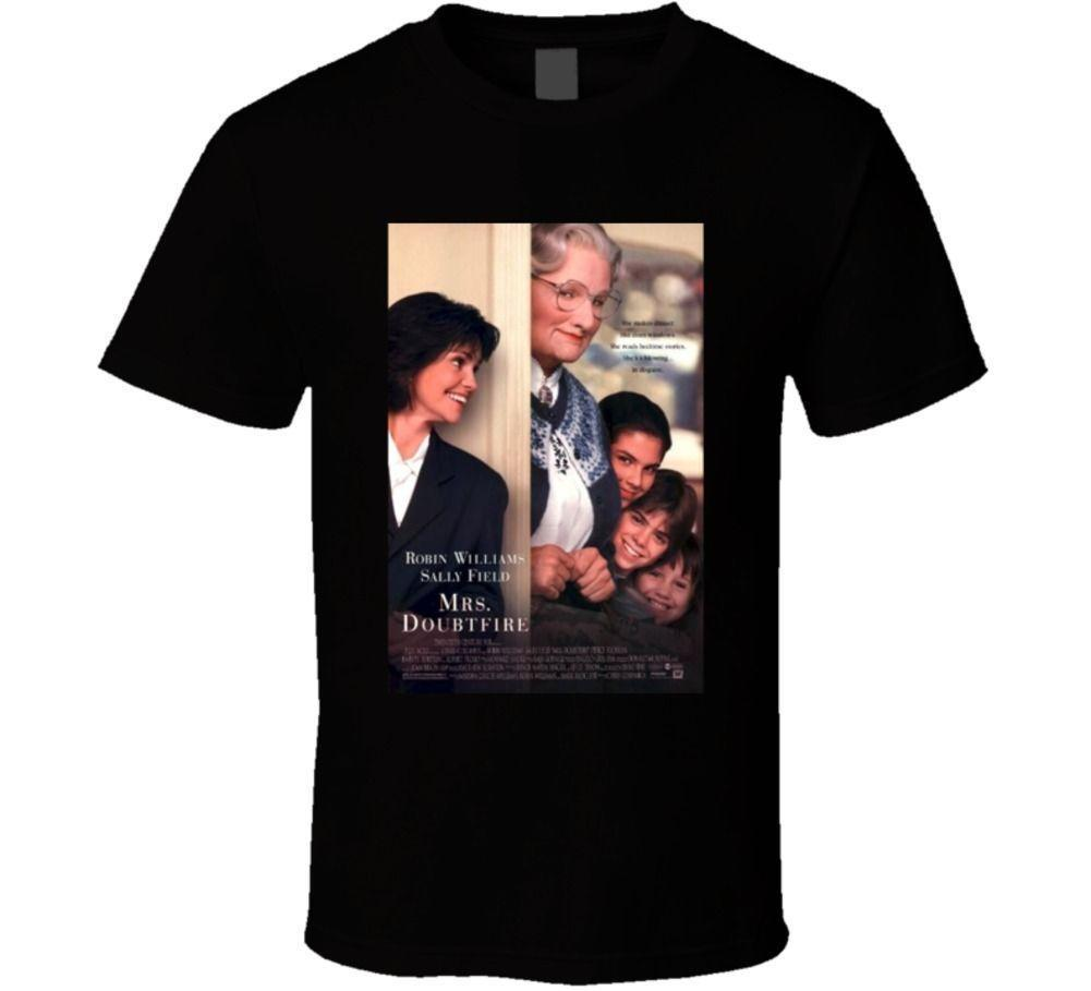fe0b2e85d9d Mrs.Doubtfire Cool 90 S Comedy Vintage Classic Movie Poster Fan T Shirt T  Shirts With Awesome Cheap T Shirts From Jc03