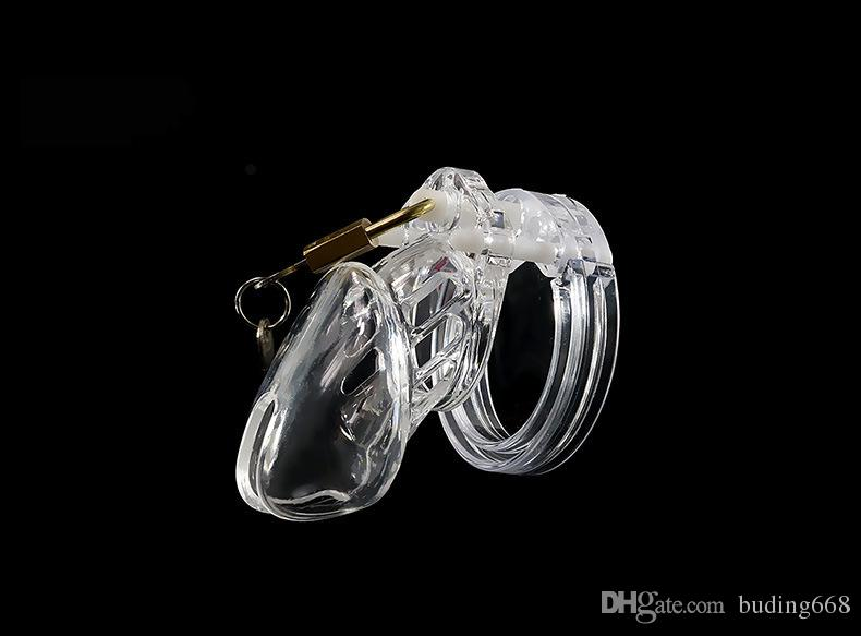 Plastic Clear Lucite Male CB6000S Chastity Device Chastity Belt Cock Cage Penis Ring Bondage Sex Toys Dildo Lock Sex Products