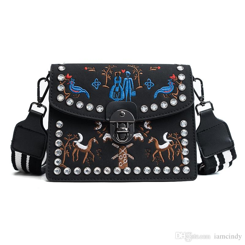Shoulder Bag Cute Small Shoulder Bags Rhinestone Embroidered For Teen Girls  Cross Body Bags Leather Red Black Handbag Purses Wholesale From Iamcindy,  ... 9e5300e689