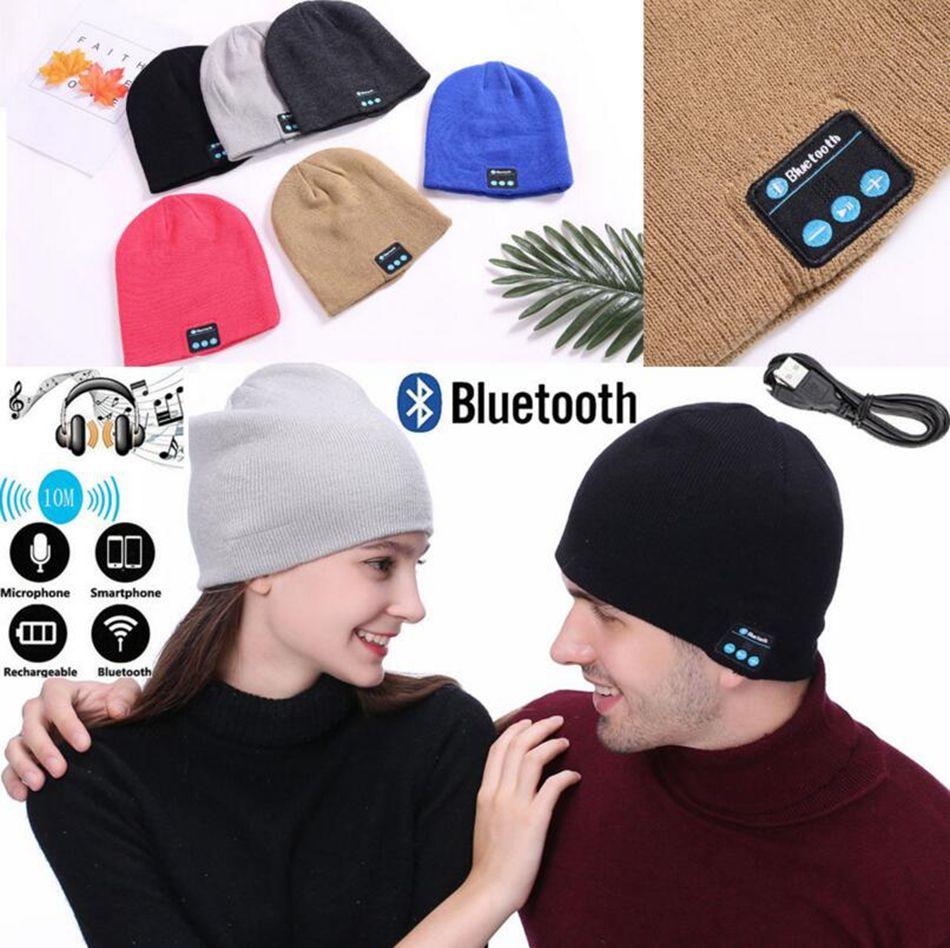 a19e203a7 Wireless Bluetooth Headphones Music Hat Smart Caps Headset Earphone Warm  Beanies Winter Hat Outdoor Sports Hats 120pcs OOA4047