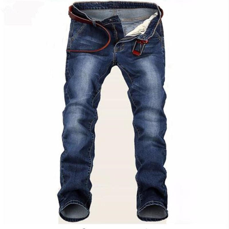 27a0399757a57 Free Delivery 2018 New Large Blue Elastic Men Jeans Slim Fit Straight Denim  Pants Cheap Price Men's Jean Skinny Homme