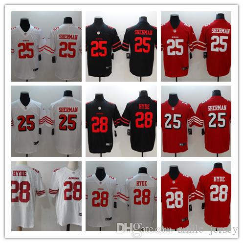 Top New Mens 25 Richard Sherman San Francisco Jersey 49ers Football  free shipping