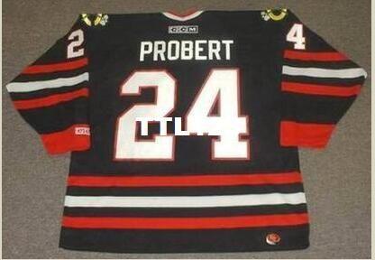 cdce28590 Mens  24 BOB PROBERT Chicago Blackhawks 1998 CCM Retro Alternate Hockey  Jersey Or Custom Any Name Or Number Retro Jersey UK 2019 From Ttl123