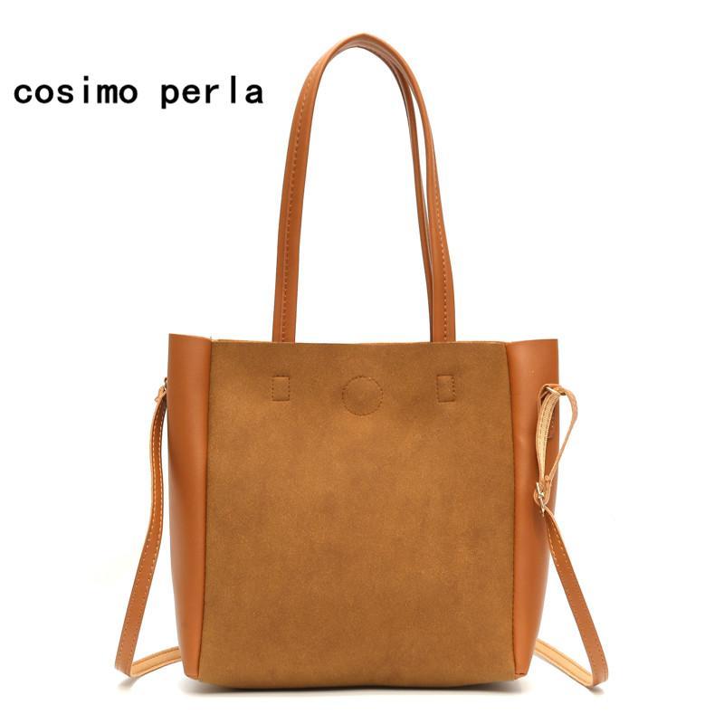 3fb2ea55cca0 Fashion Big Tote Bags For Women 2018 Bolsos Mujer Suede Leather Handbags  High Quality PU Leather Casual Shoulder Crossbody Bags Men Bags Handbag  Wholesale ...