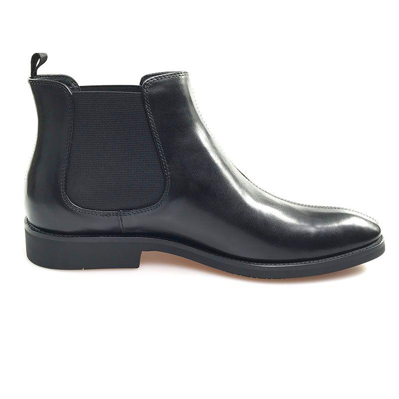 Männer Stiefel Spitzschuh echtes Leder schwarz Business Schuhe formale Büro Schuhe