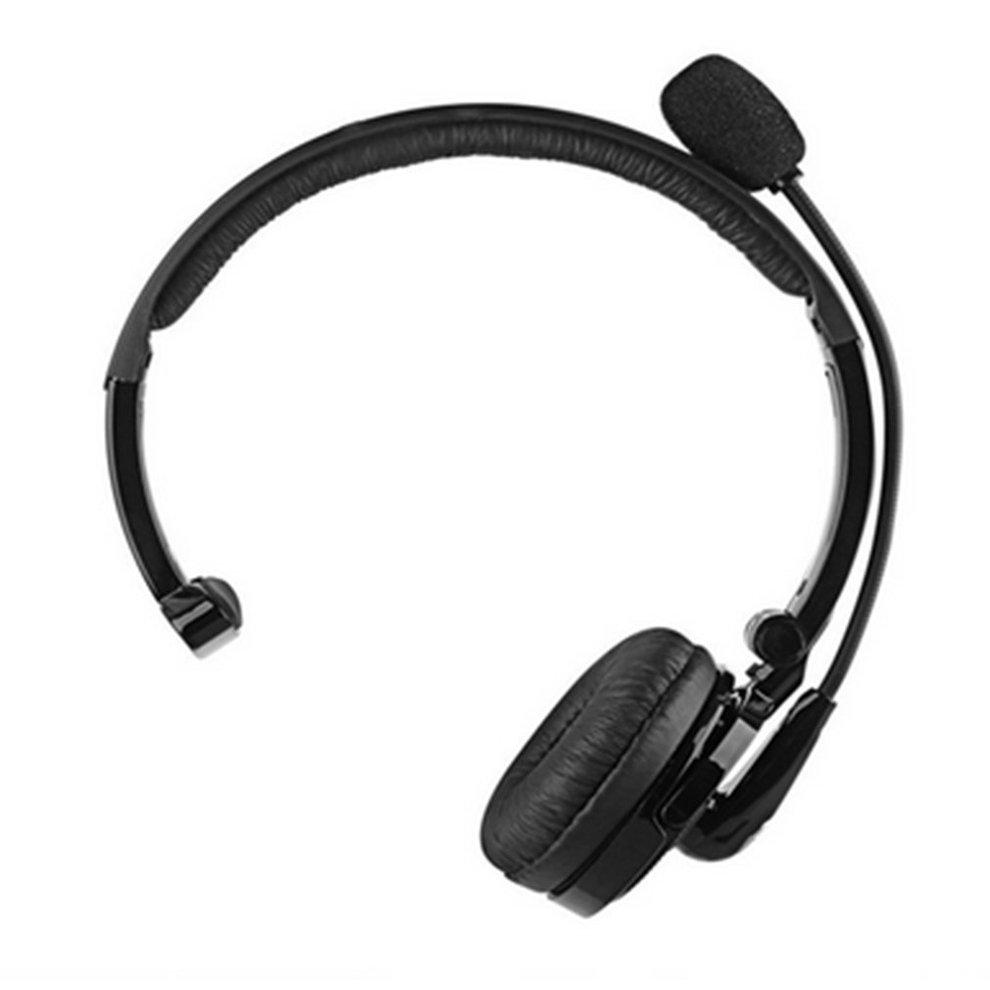 Portable Single Channel Wireless Bluetooth Headset Multi Point Connection  for Up to Two Devices Noise Reduction