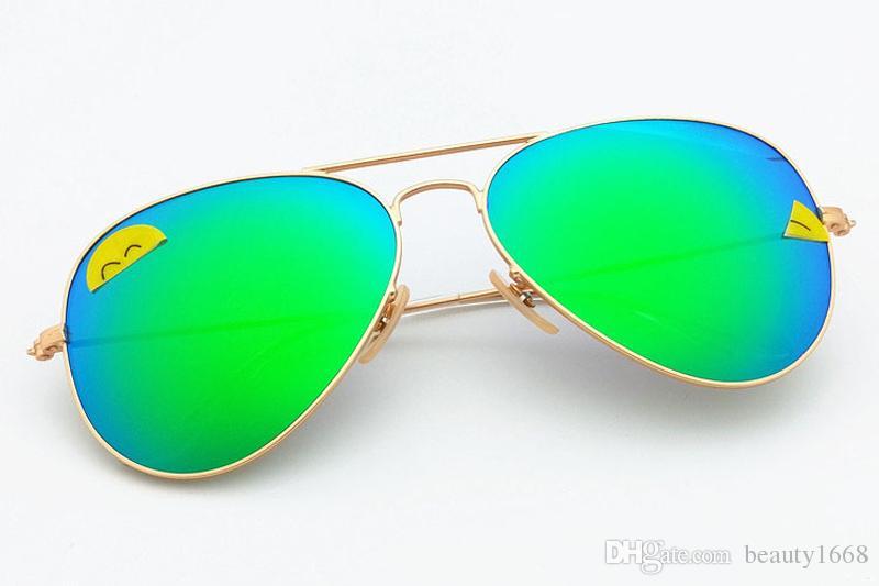 Heiße Verkäufe passen Flieger polarisierte Objektivpilot Mode-Sonnenbrille für Männer und Frauen Markendesigner Weinlese-Sport-Sonnenbrille 990001-2
