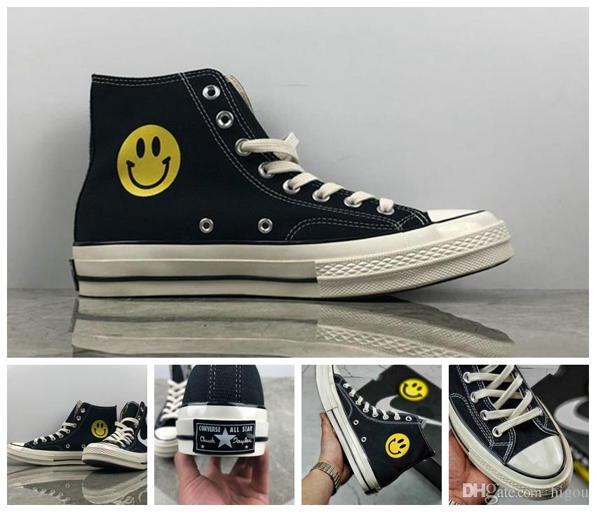 2018 New Chinatown Market Converse All Stars Shoes Chuck 1970S Canvas Women  Men Designer Smile Face Casual Running Casual Sneakers 35 44 Canada 2019  From ... a9ee6737f