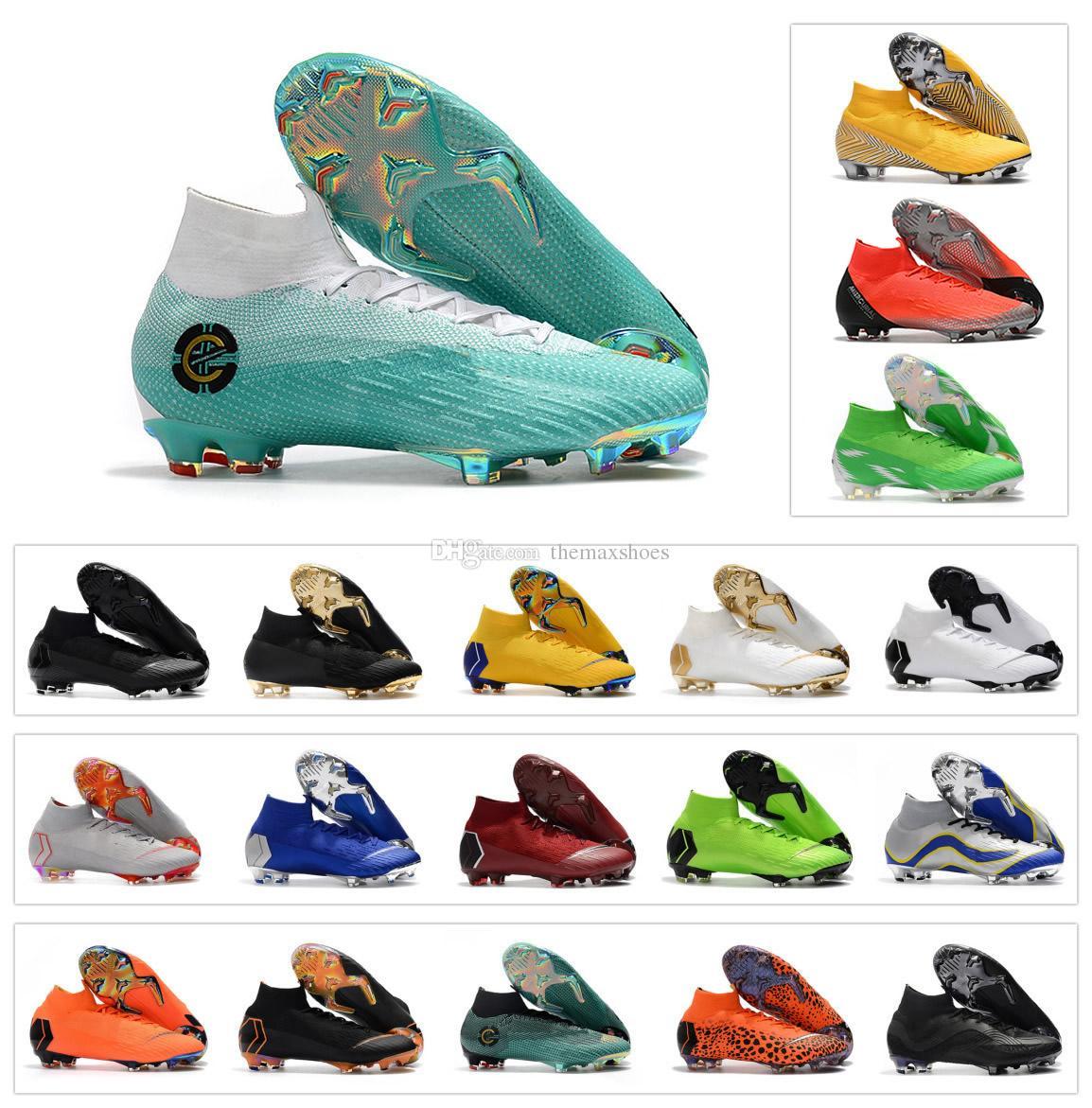 3867ac3a09e 2019 Hot Mercurial Superfly VI 360 Elite FG KJ 6 XII 12 CR7 Ronaldo Neymar  NJR Mens Women Boys High Ankle Soccer Shoes Football Boots Cleats From ...