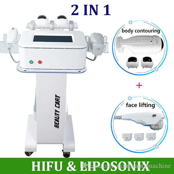 2019 Portable Liposonix machine hifu Liposonix 2 in 1 face lift body skin lifting treatment Lipo body contouring equipment on sale