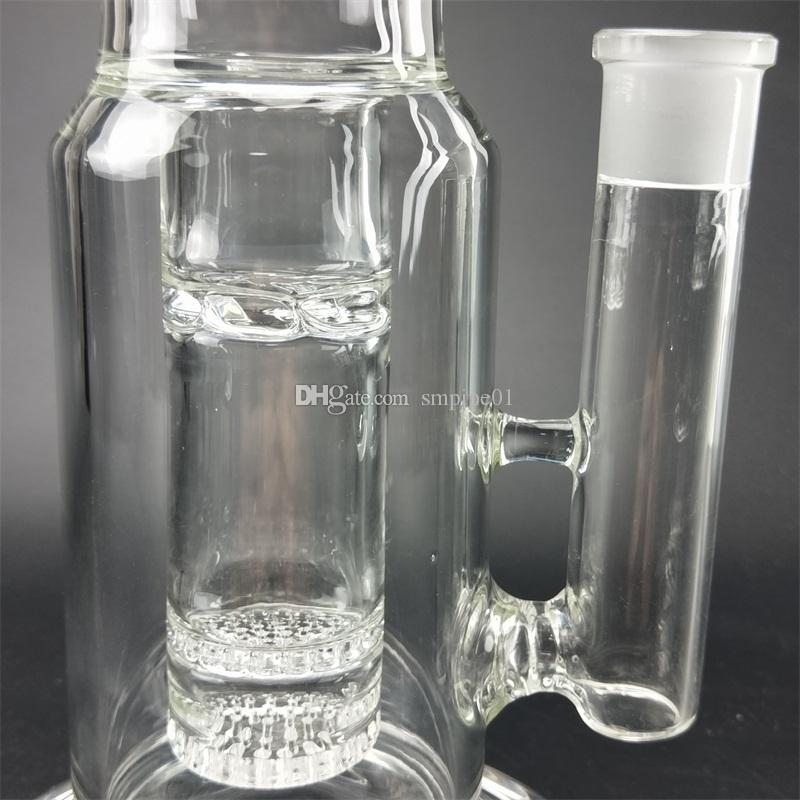Thick Glass Bong Dab Rig Water Pipe Tall Pipes big hookah oil rigs heady bubbler catcher wax banger Double color percolator
