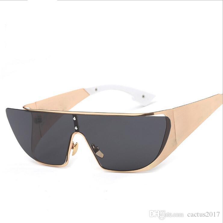 4ac4d83eb9c50b Lunette Femme Personality Men Or Women Brand Designer Integrated Square  Frame Reflect Sun Glasses Female Male Sunglasses Sunglasses For Men  Prescription ...