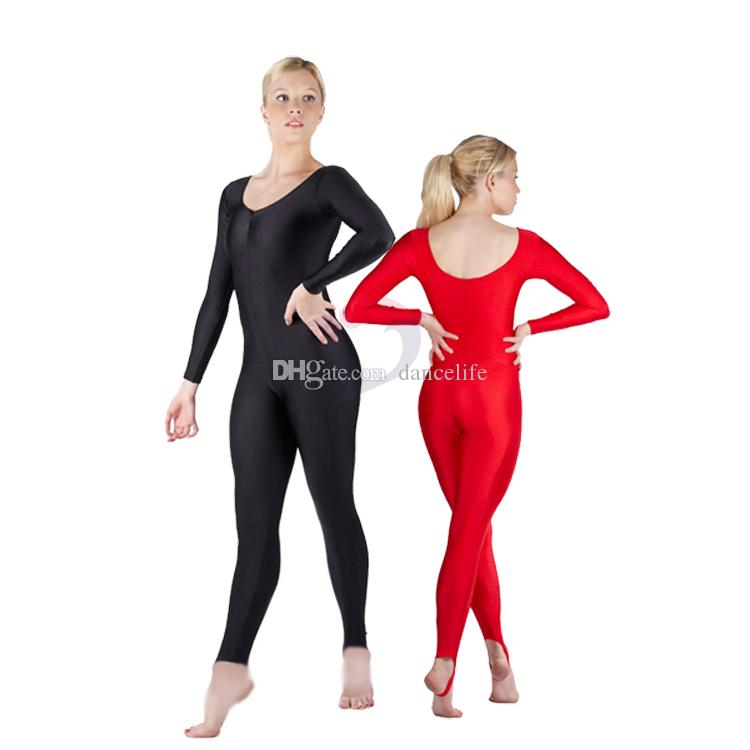 4d205d990 In Stocks Adult Long Sleeve Unitard A2619 Ballet Dance Unitards ...