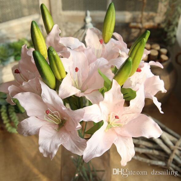 Online cheap single lily flower factory direct artificial silk online cheap single lily flower factory direct artificial silk flowers for wedding party centerpieces home holiday decoration y 302 by dzsailing dhgate mightylinksfo