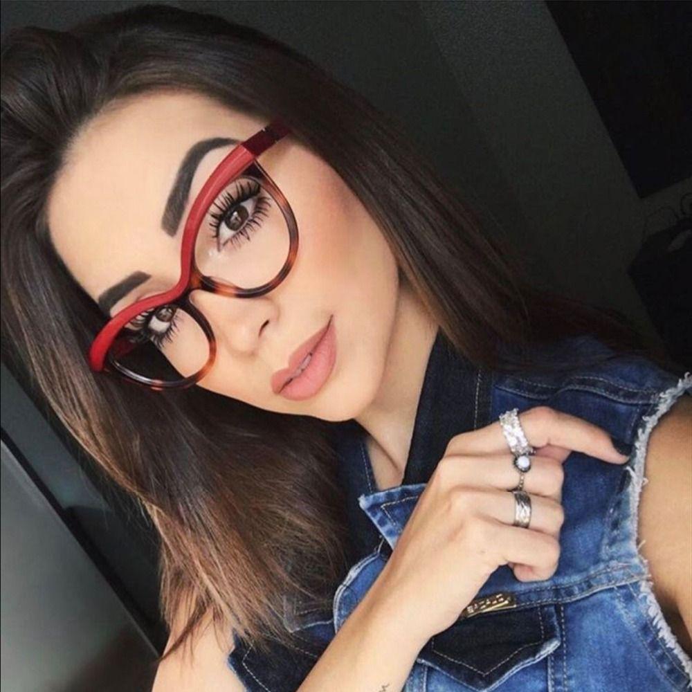 03ae75c4e606 Mimiyou 2018 Fashion Cat Eye Optical Clear Eyewear Women Men Reading ...