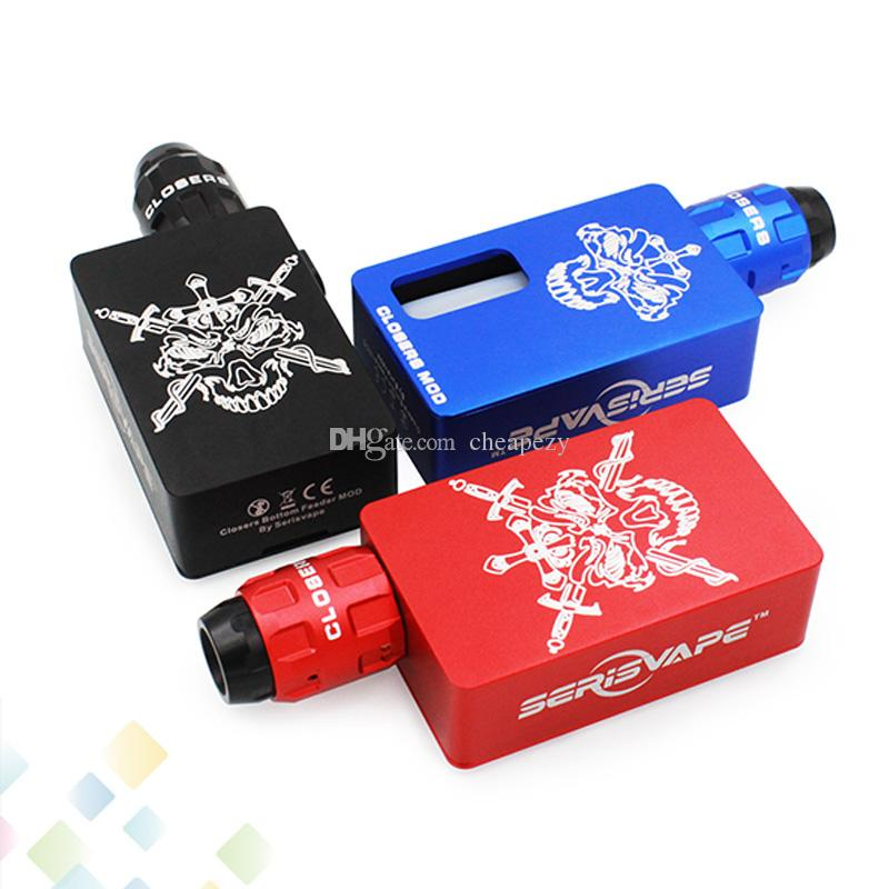 Original Closers BF Box Kit von Serisvape Vaporizer Box Mod Schwarz Blau Rot 3 Farben mit 8ml Silikon Flasche E Zigarette DHL frei