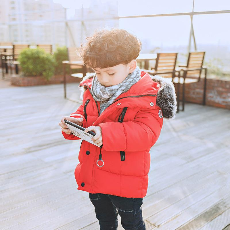 fbed5e02de07 Russia Winter 20 30 Degree Children Down Jackets Fur Hooded Coat Snowsuit  Boys Coat Thick Cotton Down Jacket Girl Warm Outerwear Y18102607 Kids  Lightweight ...