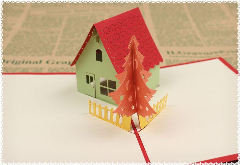 Christmas Cards Korean Creative 3d Stereoscopic Tree Cards Manual