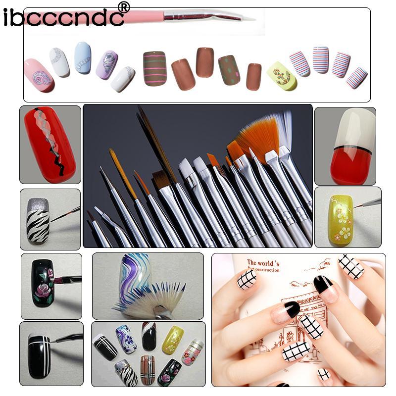 Set Nai Art Professional Manicure Tools 30w Uv Lamp+Uv Gel Nail ...