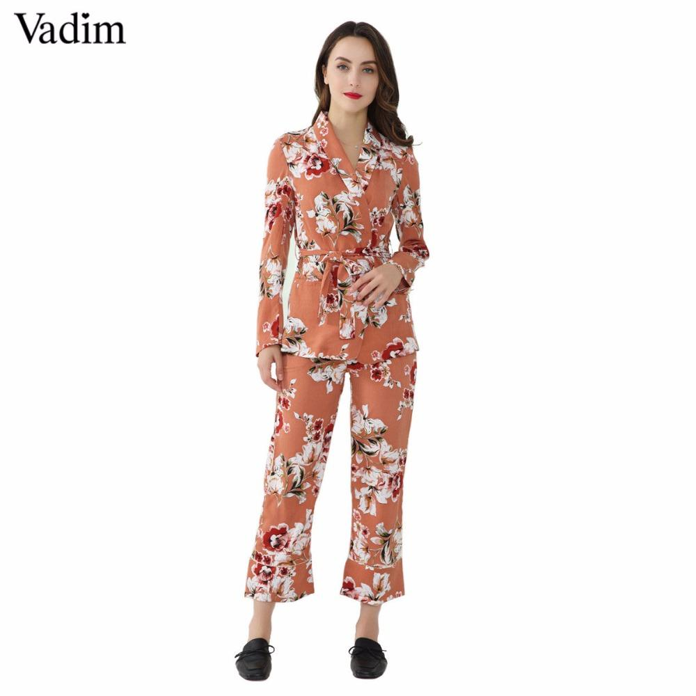 60bb79e619 2019 Vadim Women Vintage Floral Print Wide Leg Pants Loose Ladies Summer  Casual Ankle Length Trousers Pantalones Mujer KZ933 From Maoyili, $20.12 |  DHgate.