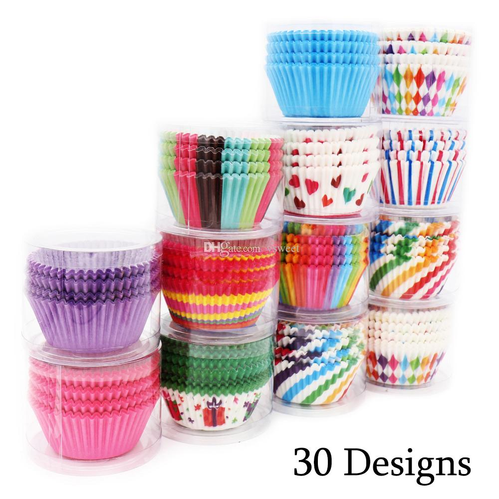 Rainbow Colorful Cupcake Paper Liners Greaseproof in Case Cup ... on