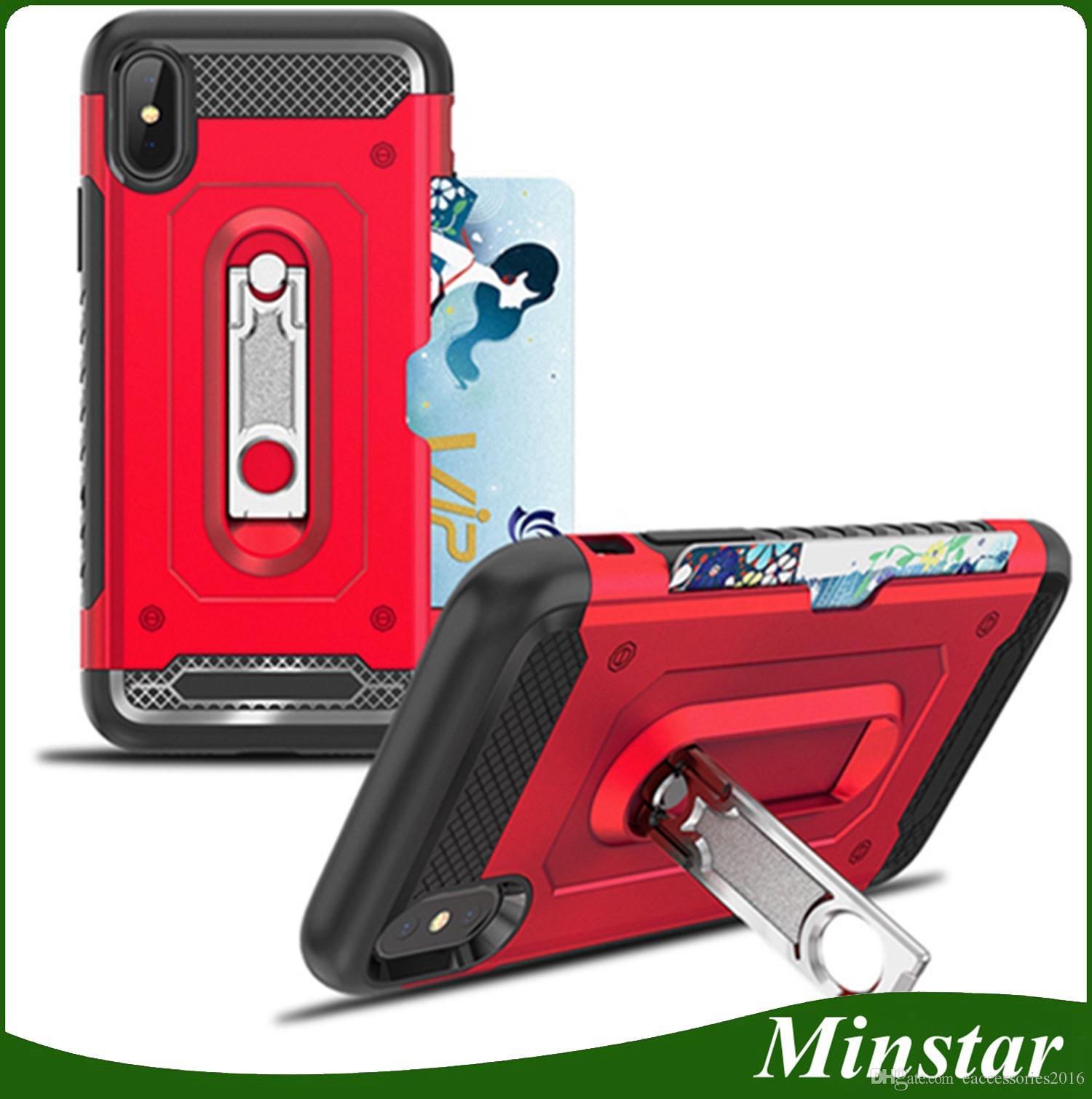 Card Holder Pocket Kickstand Case For Samsung Galaxy J2 Pro 2018 J7 Prime 2 7 J5