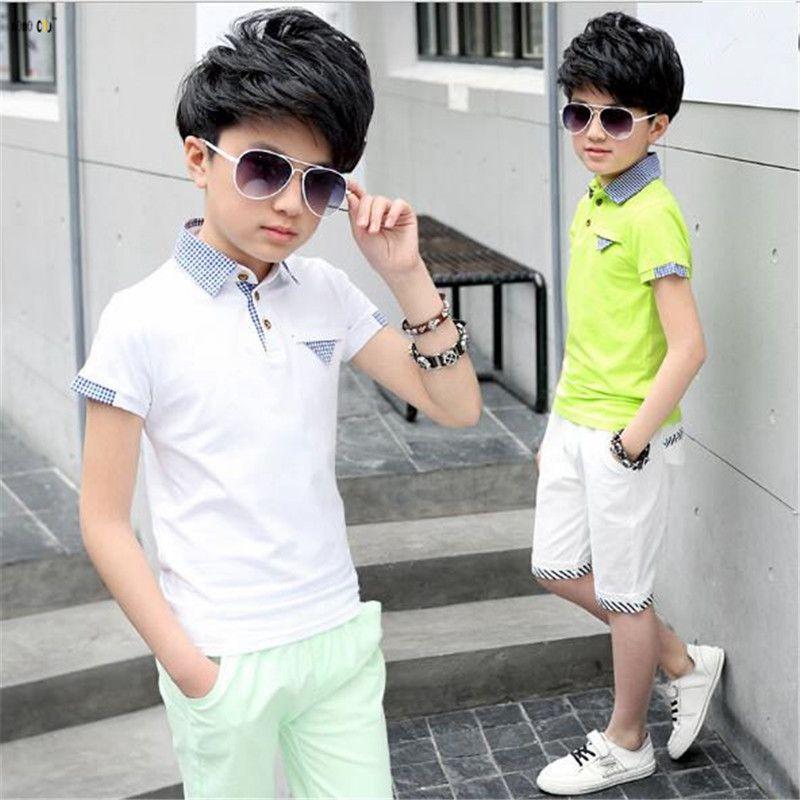 4b0900419 2019 Summer T Shirt   Pants Boy Clothing Sets Casual Sports Short ...