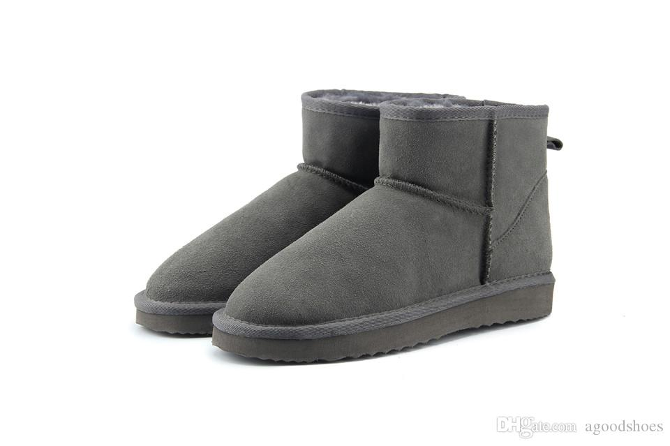 216d011ef93bd Hot Sell 2018 High Quality WGG Australia Women S Classic LOW Boots Womens  Boots Boot Snow Winter Leather Boots US SIZE 5 12 Boots For Women Black  Boots From ...