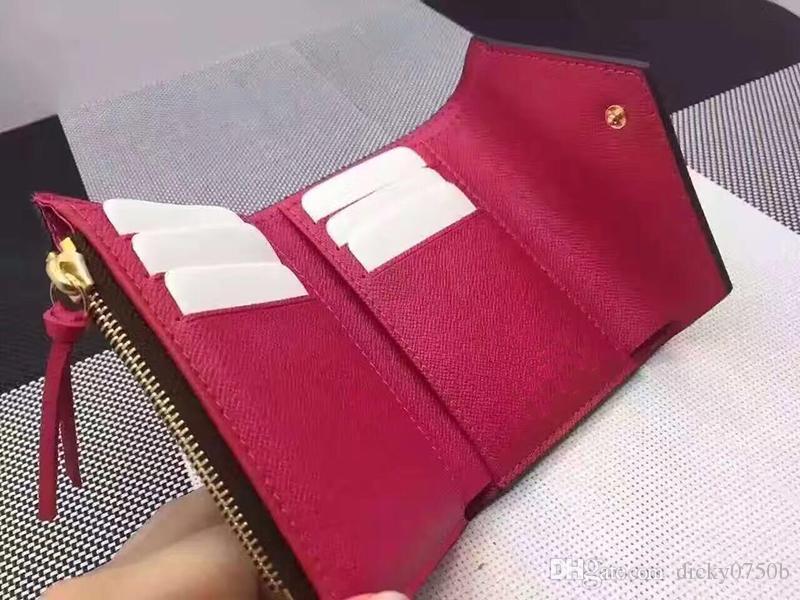 2018 Commercio all'ingrosso Lady Hot Multicolor New Coin Purse Short Wallet Porta carte colorate Original Box Women Classic Zipper Data codice tascabile